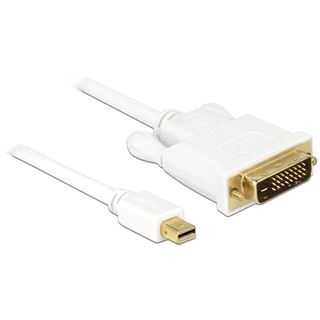 Delock Displayport Kabel mini DP zu DVI(24+1) St/St 2.00m weiß