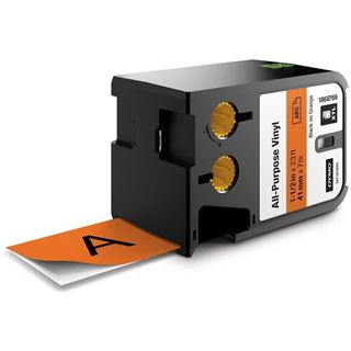 Dymo XTL Vinyl Permanent 41mm schwarz auf orange