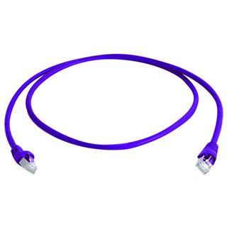(€13,80*/1m) 0.50m Telegärtner Cat. 6a Patchkabel S/FTP PiMF RJ45 Stecker auf RJ45 Stecker Violett halogenfrei