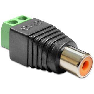 Delock Adapter Terminalblock 2Pin Cinch Buchse