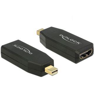 DisplayPort Delock Adapter mini DP -> HDMI 4K Aktiv schwarz