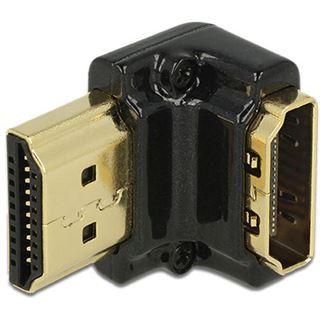 HDMI Delock Adapter A -> A Bu/St 90ø unten 4K Metallgehäuse