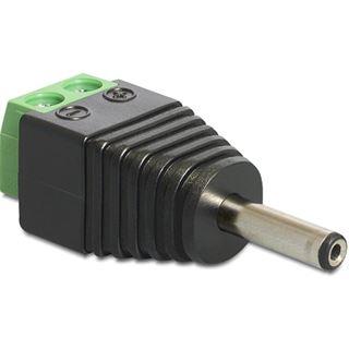 Delock Adapter Terminalblock 2Pin -> DC 1,3 x 3,5mm Stecker