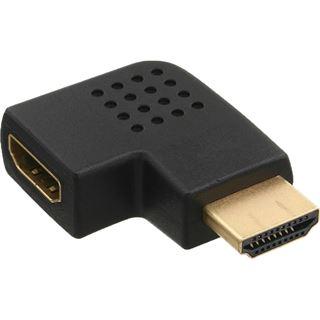 InLine HDMI Adapter, Stecker / Buchse, seitlich links gewinkelt, vergoldete Kontakte, 4K2K kompatibel
