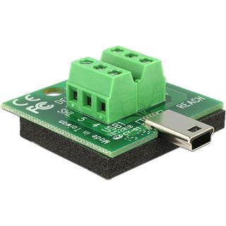 DeLOCK Terminalblock auf Mini USB Stecker