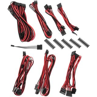 BitFenix Alchemy 2.0 PSU Cable Kit BQT-Series SP10 schwarz/rot