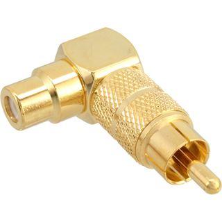 InLine Audio Adapter gewinkelt Cinch Stecker auf Cinch Buchse Gold