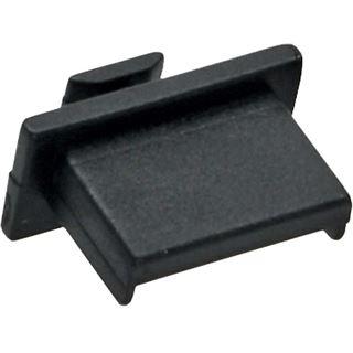 InLine Staubschutz für USB A Buchse schwarz 50er Pack