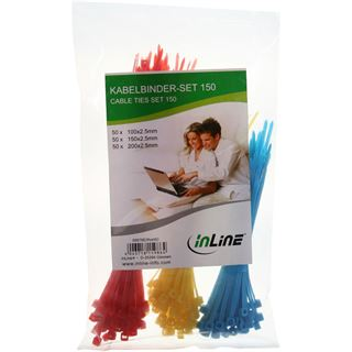 InLine 59978E Kabelbinder-Set, 150 Stück
