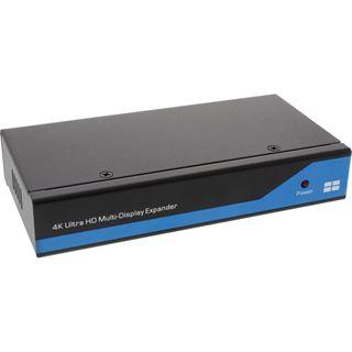 InLine Displayport zu HDMI 2x2 Videowand Splitter, 1 Eingänge auf 4 Ausgänge, 4K2K