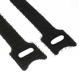 InLine 59943K Kabelbinder L125mm x B12mm Klett-Verschluss 10 Stück schwarz