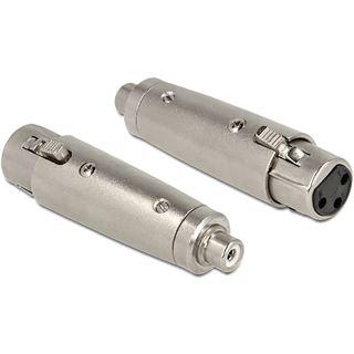Delock Audio Adapter Cinch Buchse auf XLR-Buchse Silber