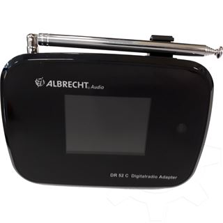 Albrecht DR 52 C Digitalradio-Adapter, DAB+/UKW, schwarz