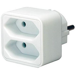 Brennenstuhl Steckdosen-Adapter Euro 2 weiß