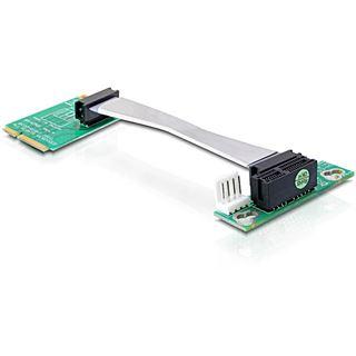 Delock MiniPCIe Riser Karte zu PCIe x1 flex Delock