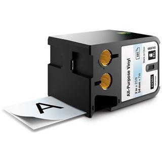 "Dymo XTL 2"" (54 mm) Allzweck-Vinyletikett, schwarz auf"
