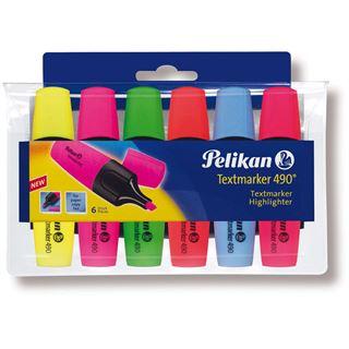 Pelikan Textmarker 490 6ST Etui farbig sortiert