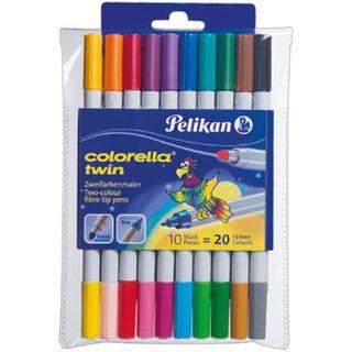 Pelikan Fasermaler Colorella Twin normal C302 10 Stifte sort