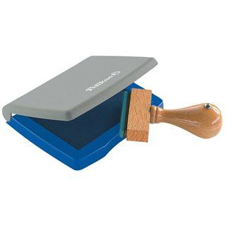 Pelikan Stempelkissen 7 x 11 cm Blau, Kunststoff-Gehäuse