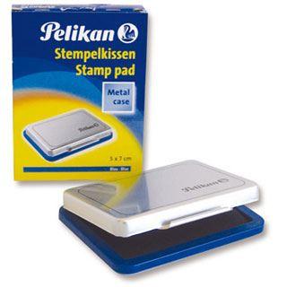 Pelikan Stempelkissen 5 x 7 cm Blau Metallic-Gehäuse