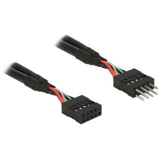 Delock USB Verl. Pinheader 10Pin zu 10Pin St/Bu 0.50m