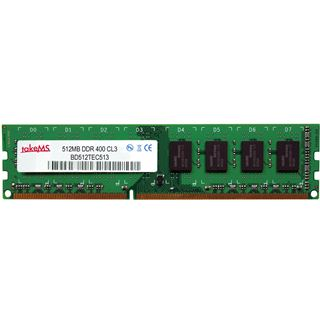 512MB takeMS BD512TEC400E Bulk DDR-133 DIMM CL3 Single