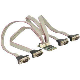 DeLOCK MiniPCIe I/O PCIe full size RS-232 4x DB9 Stecker 921