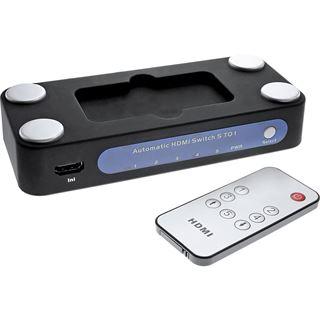 InLine HDMI Umschalter 5 IN / 1 OUT, elektronisch, 3D
