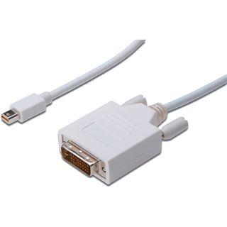 (€10,90*/1m) 1.00m Digitus Displayport Adapterkabel Mini Displayport Stecker auf DVI 24+1 Stecker Weiß