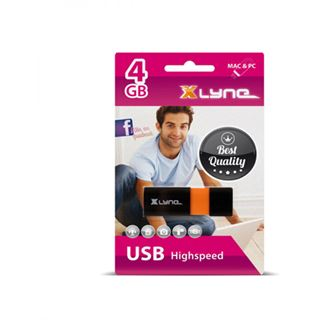 4 GB xlyne Wave schwarz/orange USB 2.0