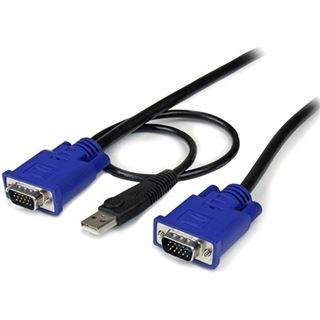 (€7,30*/1m) 3.00m Startech KVM Anschlusskabel VGA 15pol Stecker