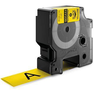 Dymo Heißschrumpfschlauch 1805444 aus Polyolefin für Rhino Etikettendrucker, 24 mm x 1,5 m, gelb
