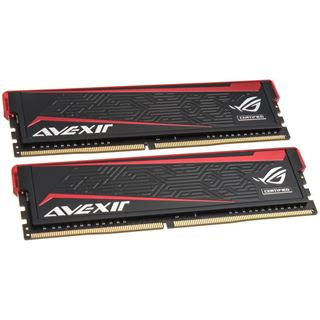 16GB Avexir Impact ROG rote LED DDR4-2666 DIMM CL15 Dual Kit