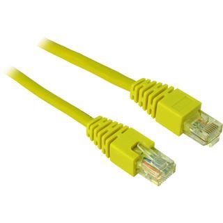 (€1,95*/1m) 2.00m Inter-Tech Cat. 5 Patchkabel UTP RJ45 Stecker auf RJ45 Stecker Gelb Twisted Pair