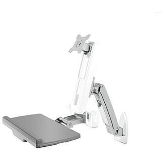 """ICY BOX Tischhalterung bis 24"""" Monitor, Tastatur und Maus IB-MS600-W weiß"""
