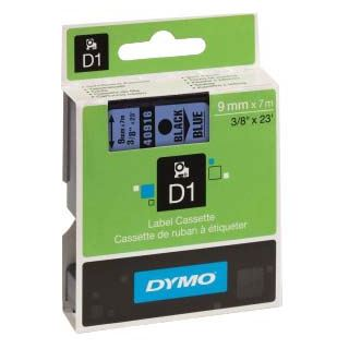 Dymo D1-TAPE 9mm x 7m schwarz auf blau