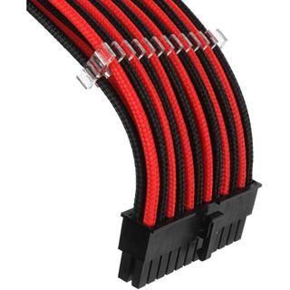 Phanteks Verlängerungskabel-Set, 500mm schwarz/rot