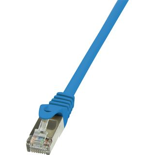 (€1,95*/1m) 2.00m LogiLink Cat. 5e Patchkabel F/UTP RJ45 Stecker auf RJ45 Stecker Blau mit Arretierung / Twisted Pair