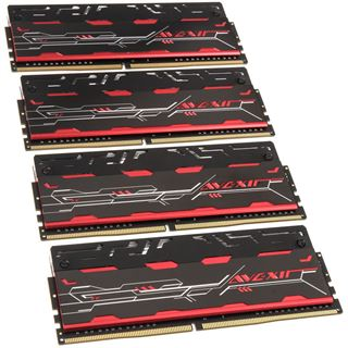 16GB Avexir Blitz Series rot DDR4-3200 DIMM CL16 Quad Kit