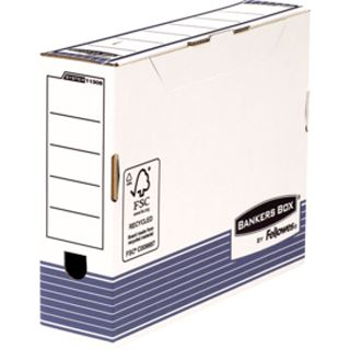 Fellowes BANKERS BOX SYSTEM Archiv-Schachtel, blau, (B)80 mm (1130802)