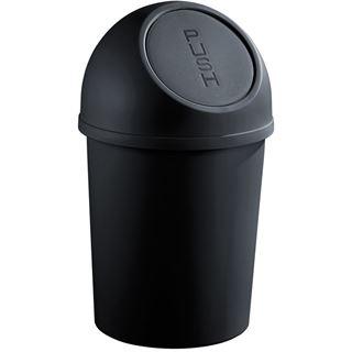 helit Abfalleimer mit Push-Einwurfklappe, 13 Liter