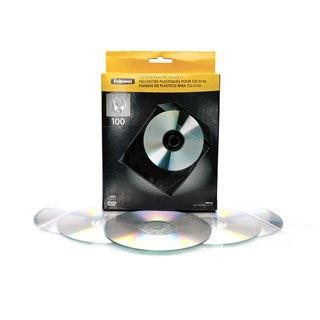Fellowes CD-/DVD-Kunststoffhülle, transparent