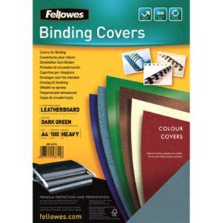 Fellowes Deckblatt Delta, Lederstruktur, DIN A4, dunkelgrün