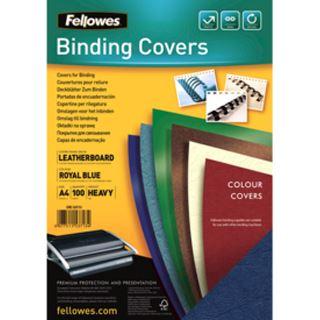 Fellowes Deckblatt Delta, Lederstruktur, DIN A4, royalblau