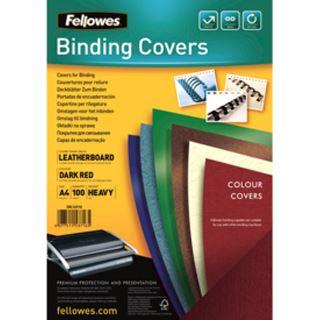 Fellowes Deckblatt Delta, Lederstruktur, DIN A4, dunkelrot