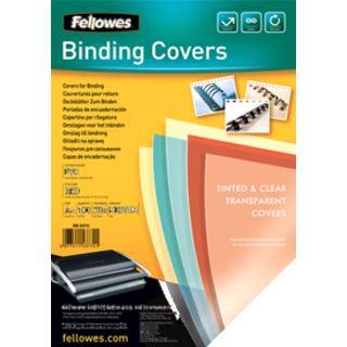 Fellowes Deckblatt, DIN A4, PVC, rot-transparent, 0,20 mm