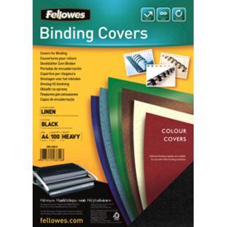 Fellowes Deckblatt Linen, Leinenstruktur, DIN A4, schwarz