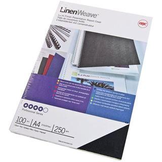 GBC Einbanddeckel LinenWeave, DIN A4, 250 g/qm, schwarz