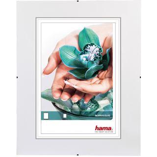 """Hama rahmenloser Bilderhalter """"Clip-Fix"""" 30x40cm für Bilder mit 20x28cm Normalglas"""