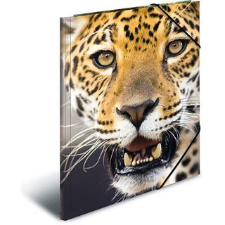 "Herma Eckspannermappe ""Leopard"", aus PP, DIN A3"